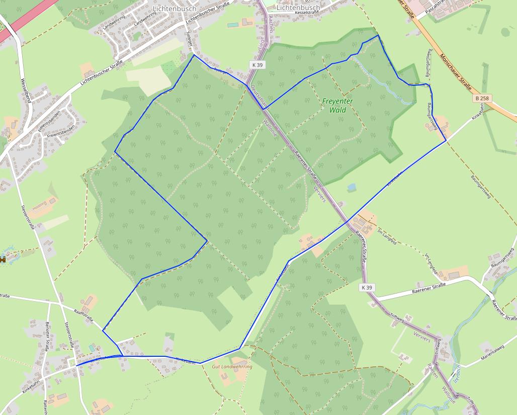 Eynatten1-FreyenterWald-Route